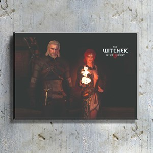 The Witcher 3 Geralt ve Merigold  Oyun Karakteri Kanvas Tablo TBL1446